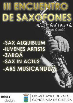 Cartel encuentro de saxofones