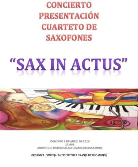 Sax in actus