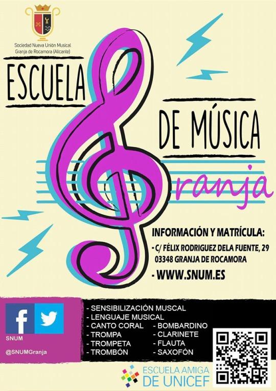 Cartel escuela de música 2017_18