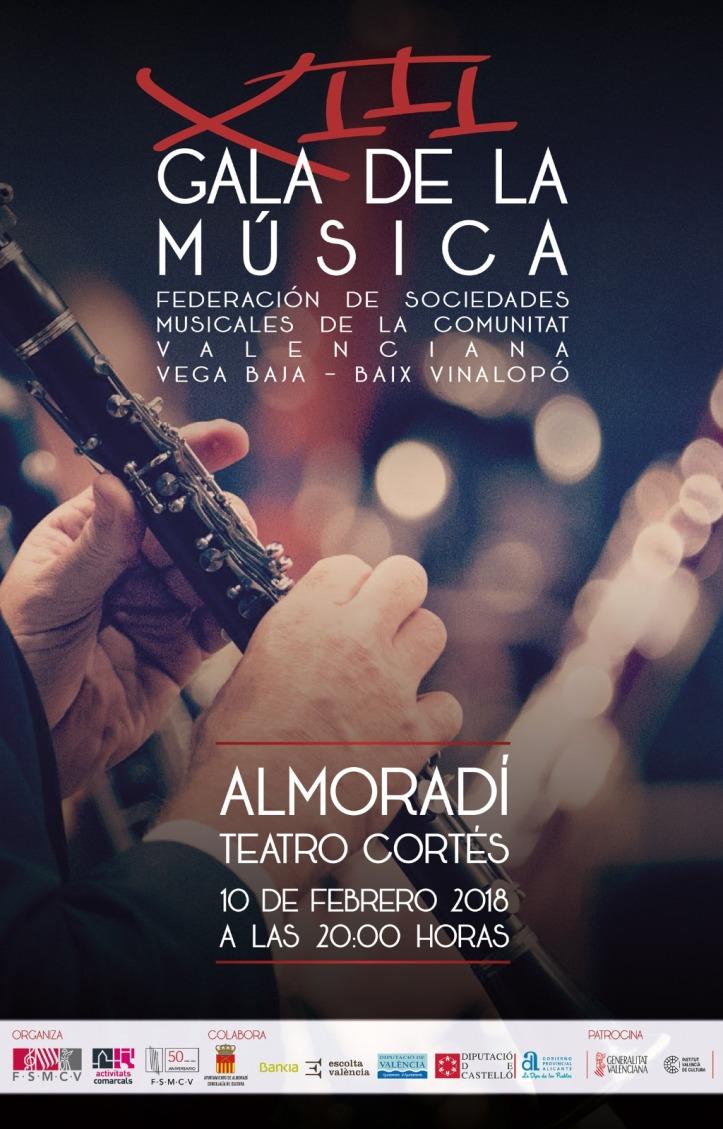 Cartel XIII Gala de la Música